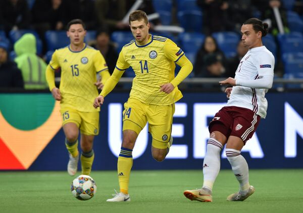 Матч Лиги наций Казахстан - Латвия