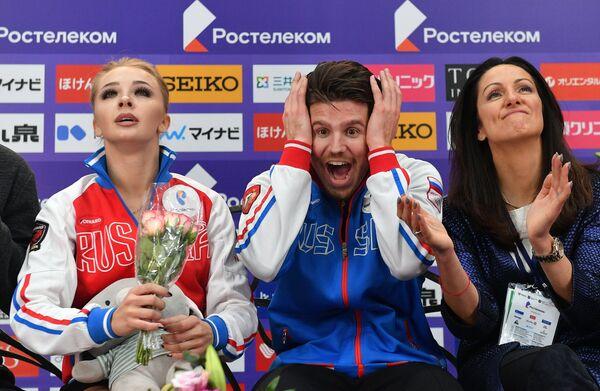 Александра Степанова, Иван Букин и тренер Ирина Жук (слева направо)