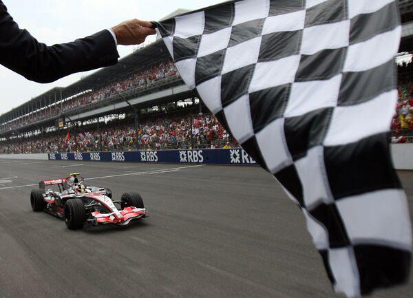 Финишная линия этапа чемпионата FIA Формула 1