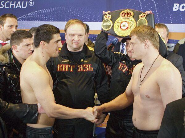 Марко Хук, Владимир Хрюнов, Александр Поветкин (слева направо)