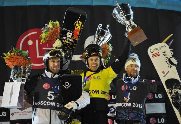 Саймон Шох (Швейцария), Ролан Фишналлер (Италия) и Андреас Проммеггер (Австрия)