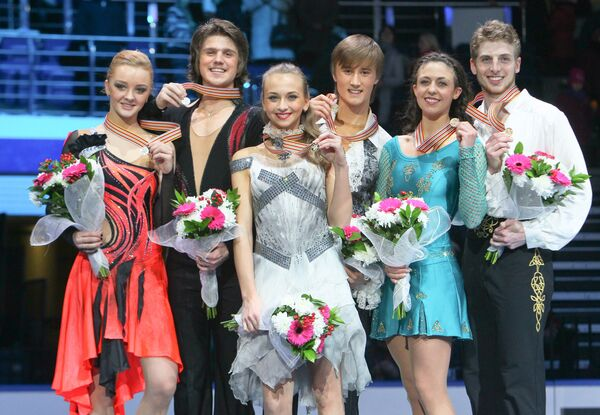 Победители соревнований в танцах на льду