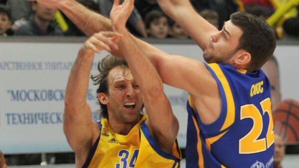 Игровой момент матча Астана - Химки