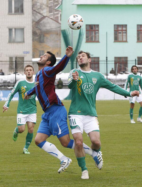 Игровой момент матча Волга (Нижний Новгород) - Терек (Грозный)