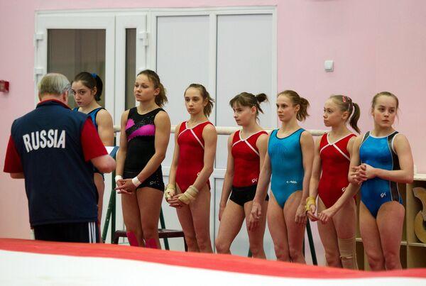 Тренировка сборной России по спортивной гимнастике