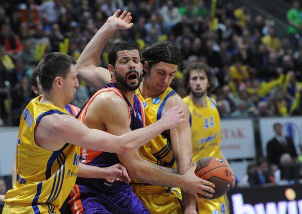 Игровой момент матча Химки - Валенсия