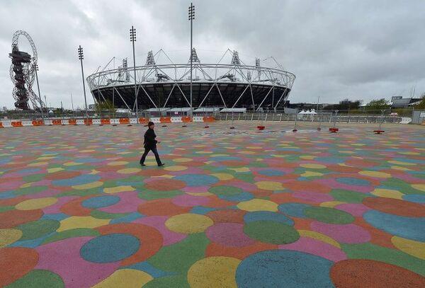 Вид на Олимпийский парк в Лондоне