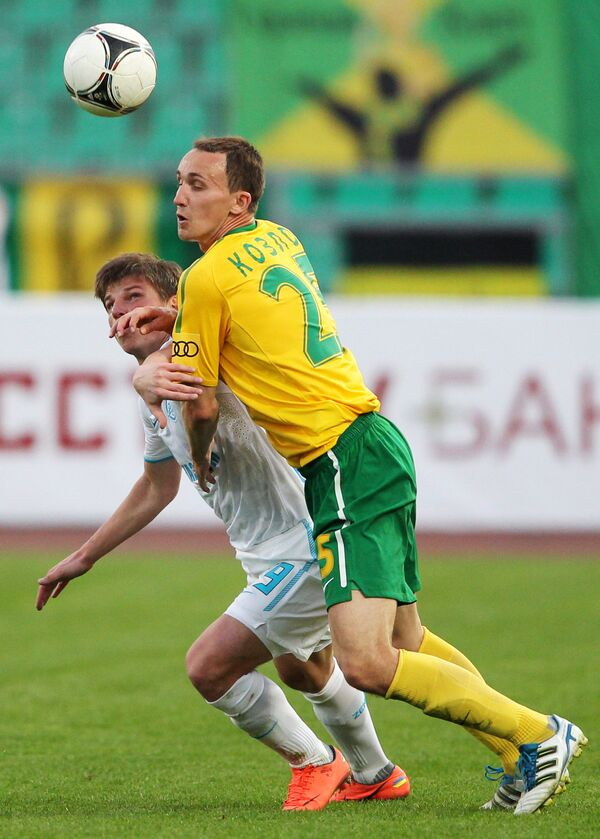 Игровой момент матча Кубань - Зенит