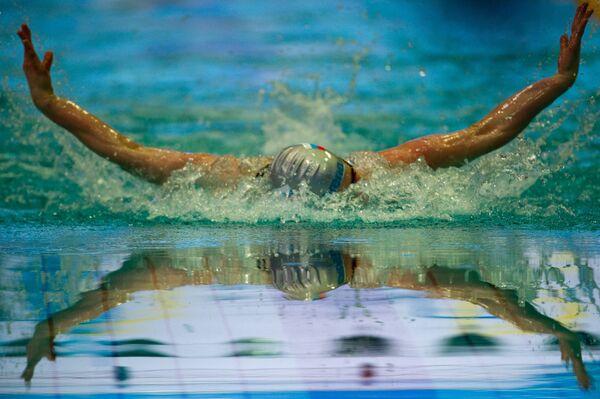 Дарья Белякина на дистанции 400 метров
