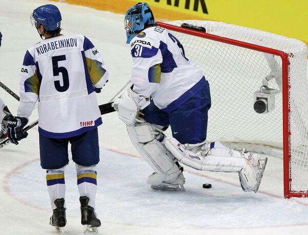 Хоккеисты сборной Казахстана