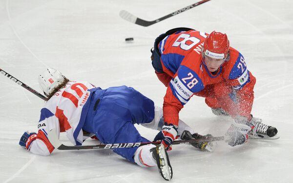 Игровой момент матча Россия – Норвегия