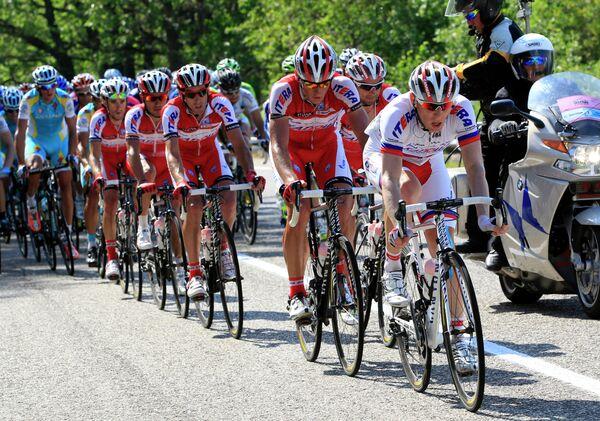 Велогонщики команды Катюша на Джиро д'Италия-2012