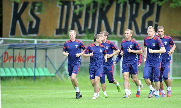 Футболисты российской сборной