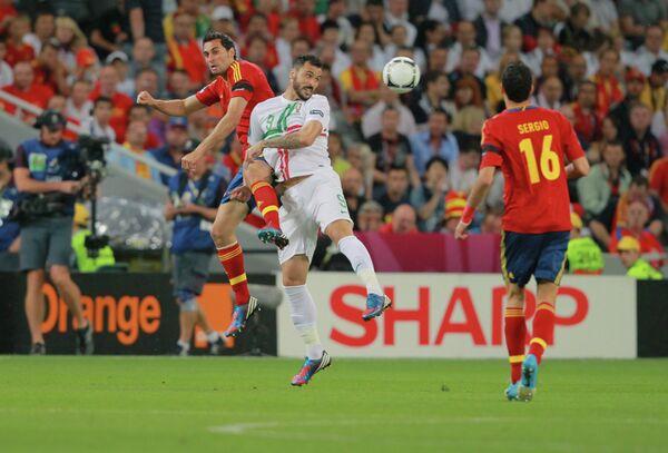 Игровой момент матча Португалия - Испания