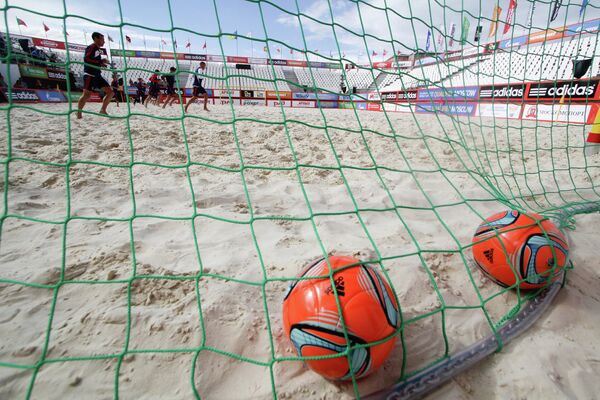 Тренировка сборной России по пляжному футболу