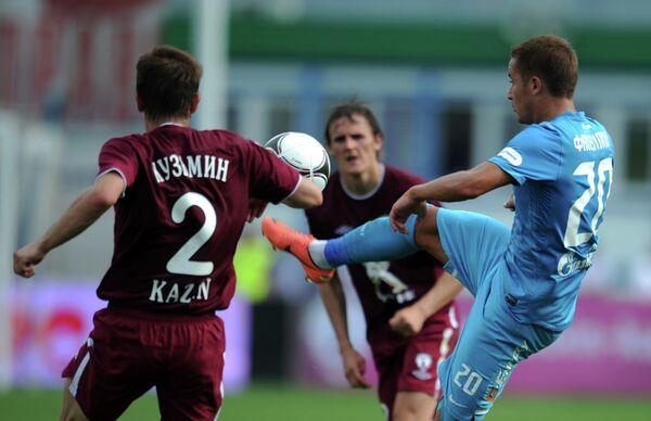 Игровой момент матча Зенит - Рубин