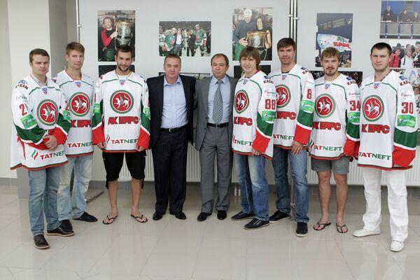 Представление новых игроков хоккейного клуба Ак Барс