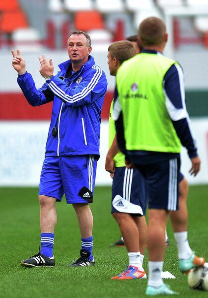 Тренировка сборной Северной Ирландии