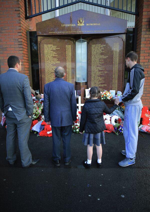 Мемориальная церемония посвященная трагедии на «Хиллсборо»