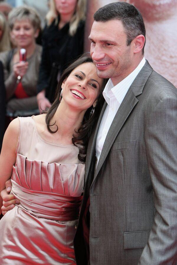 Наталья и Виталий Кличко на премьере фильма Klitschko в городе Эссен, Германия