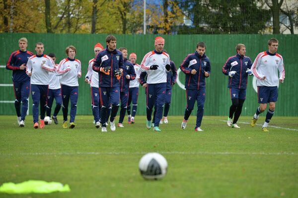Игроки молодежной сборной Россиии по футболу