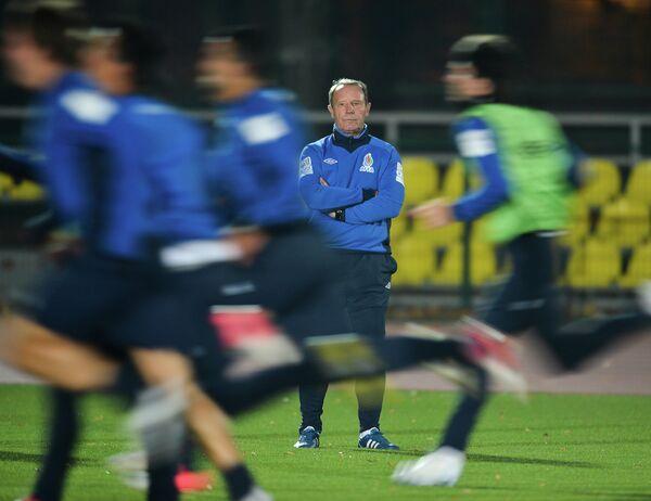 Тренировка сборной Азербайджана