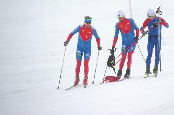 Тренировка мужской сборной России