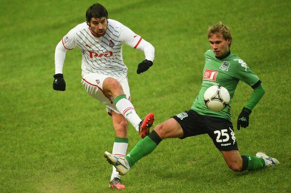 Игровой момент матча Локомотив - Краснодар