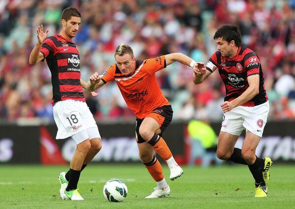 Игровой момент матча Сидней - Веллингтон