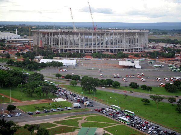 Строительство Национального стадиона в Бразилии