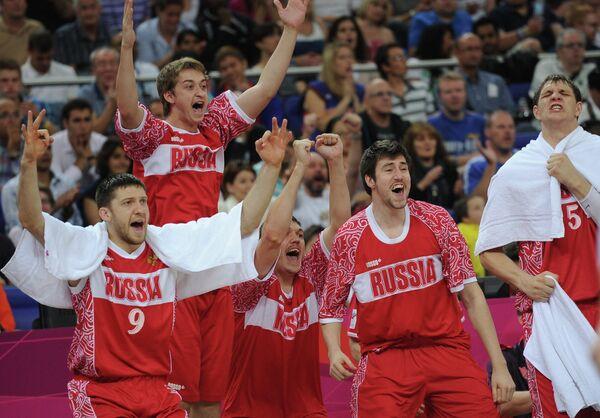 Баскетболисты сборной России, завоевавшие бронзу ОИ-2012