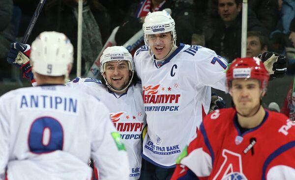 Игровой момент матча Локомотив - Металлург (Магнитогорск)