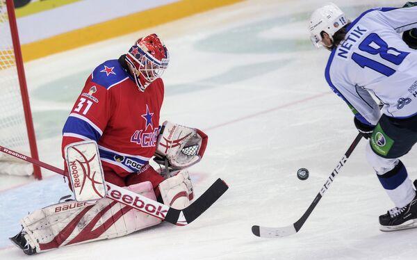 Игровой момент матча ЦСКА - Нефтехимик