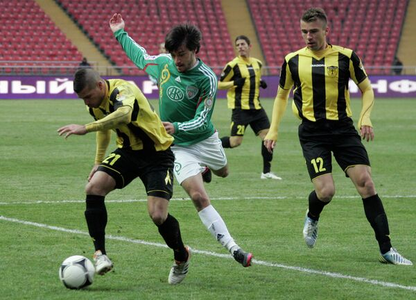 Игровой момент матча Терек - Бейтар