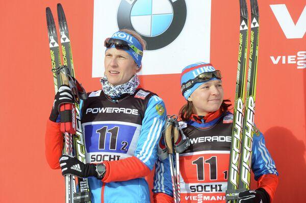 Россиянки Наталья Матвеева и Юлия Иванова (слева направо)