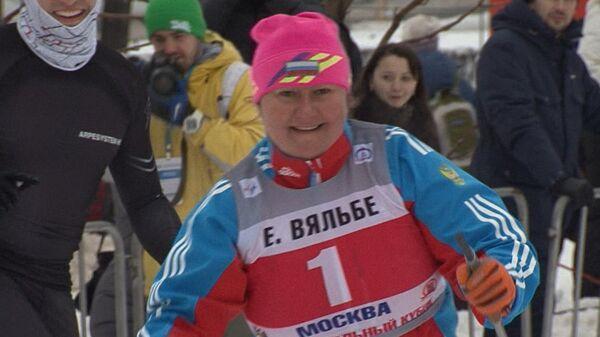 Елена Вяльбе пыталась обойти лыжника из Венесуэлы в гонке на ВВЦ