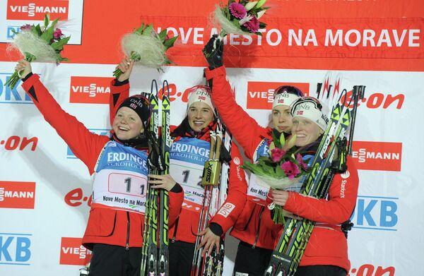Норвежские биатлонистки