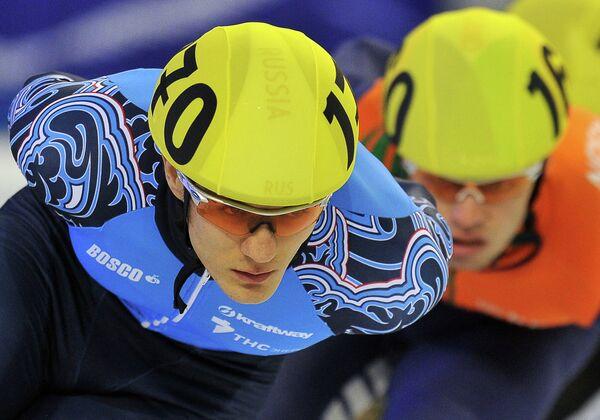 Россиянин Владимир Григорьев на дистанции 1500 м среди мужчин