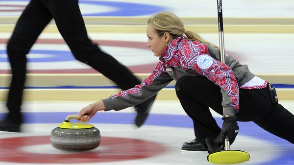 Капитан российской команды Алина Ковалева по керлингу