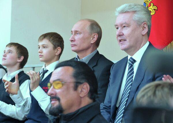 В.Путин посетил центр образования Самбо-70