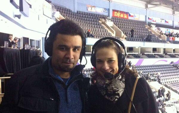 Александр Гришин и Алена Леонова (слева направо)