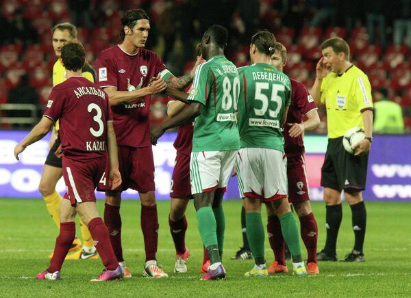 Игроки Терека и Рубина по окончании матча 21 тура Премьер-Лиги