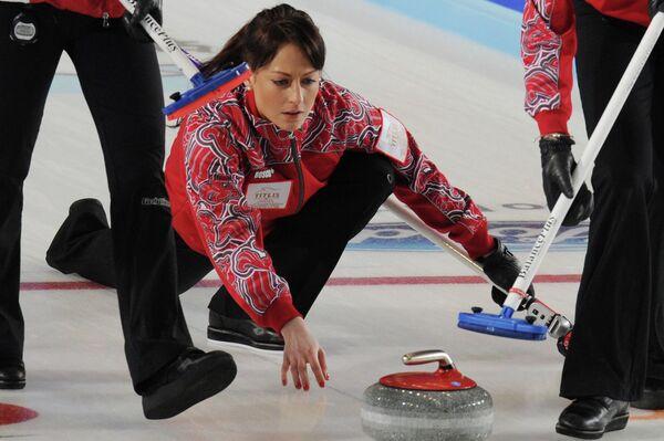 Игровой момент матча Россия - Швейцария
