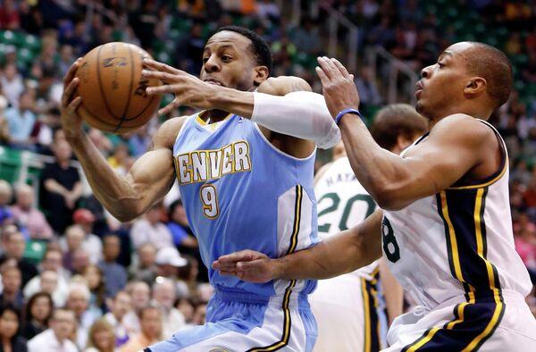 Игровой момент матча НБА Денвер Наггетс - Юта Джаз