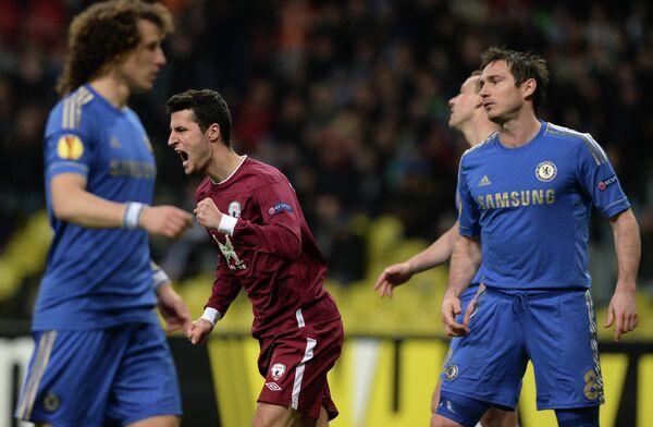 Игровой момент матча Рубин - Челси