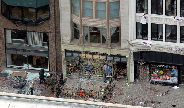 Место взрыва в Бостоне