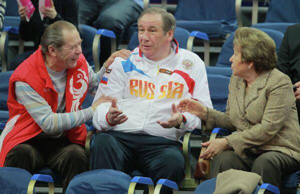 Виктор Ерин, Шамиль Тарпищев и Наина Ельцина (слева направо)