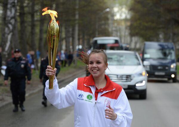 Эстафета Огня Универсиады. Новосибирск