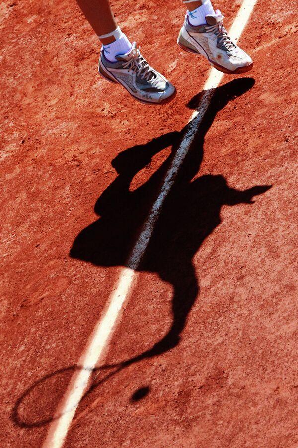 Российская теннисистка Светлана Кузнецова в матче против немки Анжелики Кербер