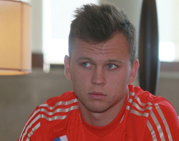 Футболист молодежной сборной России по футболу Денис Черышев